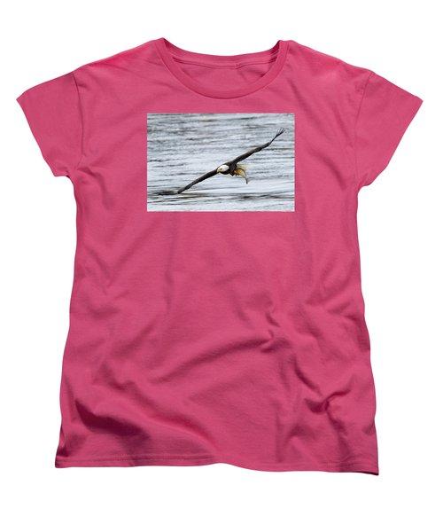 An Eagles Catch 12 Women's T-Shirt (Standard Cut) by Brook Burling
