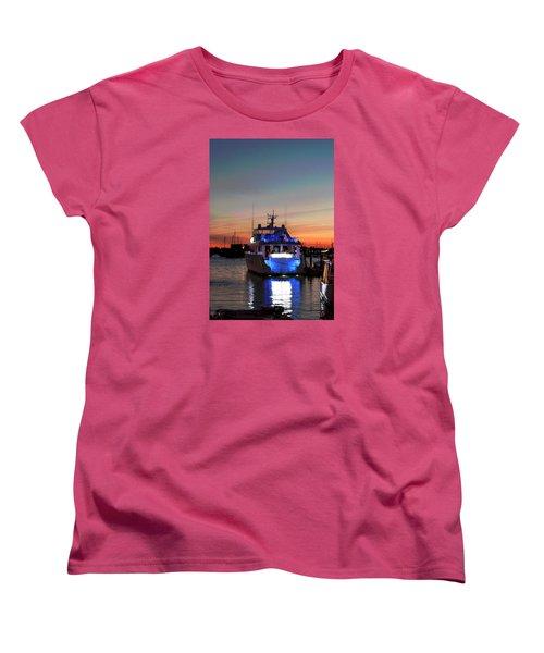 Women's T-Shirt (Standard Cut) featuring the photograph An Evening In Newport Rhode Island IIi by Suzanne Gaff