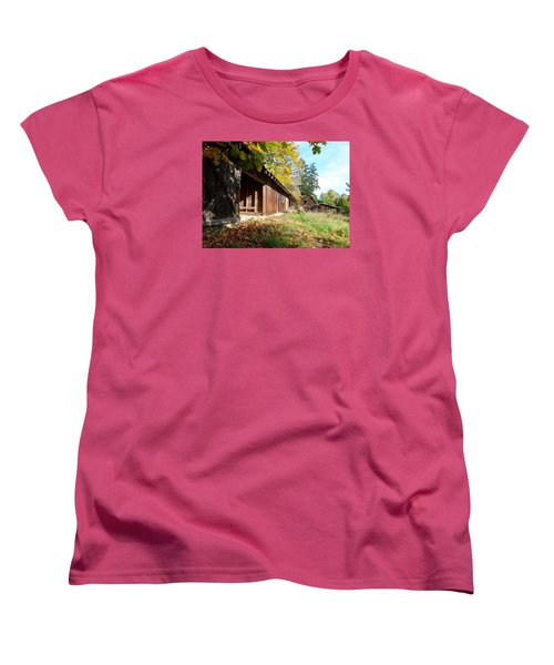 Women's T-Shirt (Standard Cut) featuring the photograph An Old Farm by Mark Alan Perry