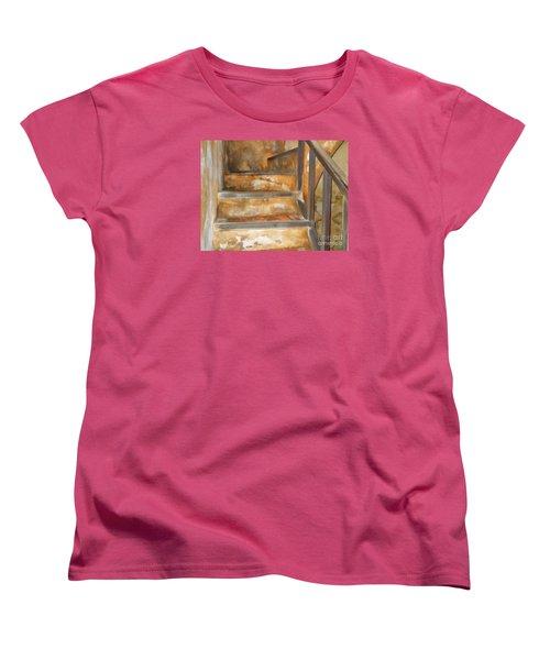 Ancient Stairway Women's T-Shirt (Standard Cut) by Roberta Byram