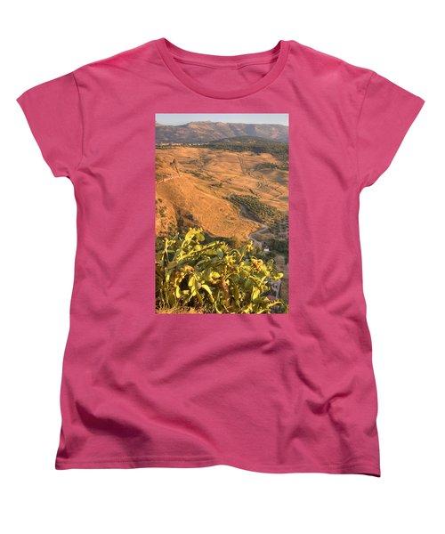Women's T-Shirt (Standard Cut) featuring the photograph Andalucian Golden Valley by Ian Middleton