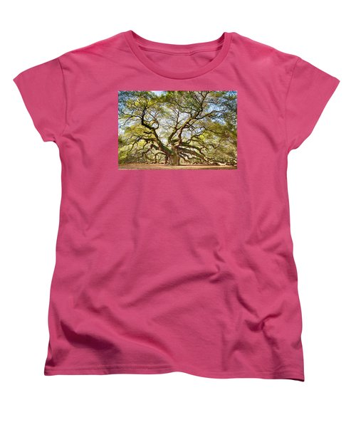 Angel Oak In Spring Women's T-Shirt (Standard Cut)