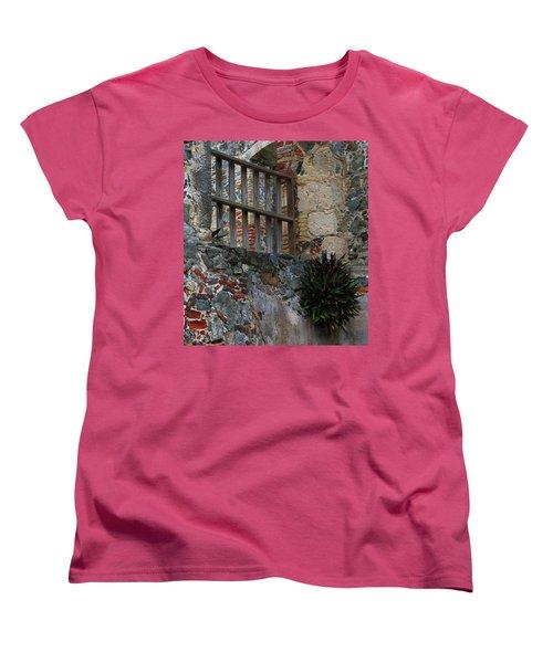 Annaberg Ruin Brickwork At U.s. Virgin Islands National Park Women's T-Shirt (Standard Cut) by Jetson Nguyen