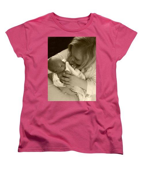 Annah With Newborn  Women's T-Shirt (Standard Cut) by Ellen O'Reilly