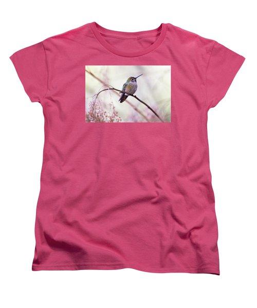 Annas Hummingbird Women's T-Shirt (Standard Cut) by Peggy Collins