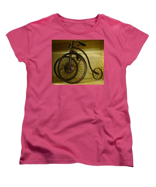 Women's T-Shirt (Standard Cut) featuring the painting Anyone For A Bike Ride?  by Rod Jellison