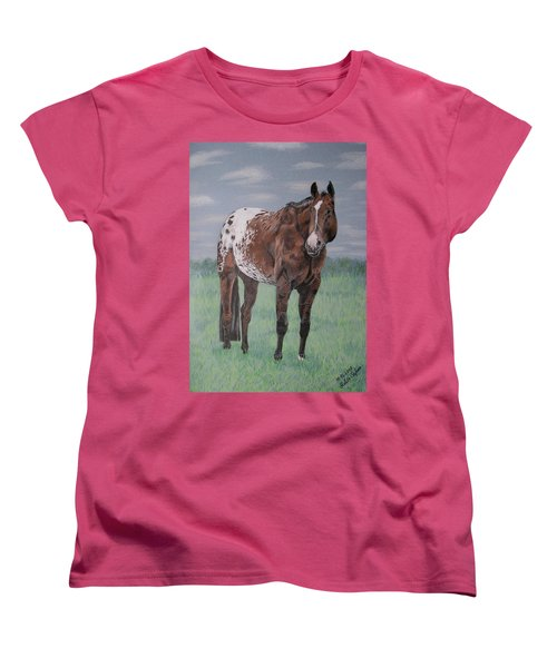 Appaloosa Women's T-Shirt (Standard Cut) by Melita Safran