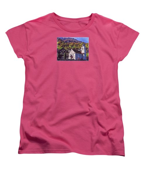 Women's T-Shirt (Standard Cut) featuring the photograph Arcadian Hamlet by Hanny Heim