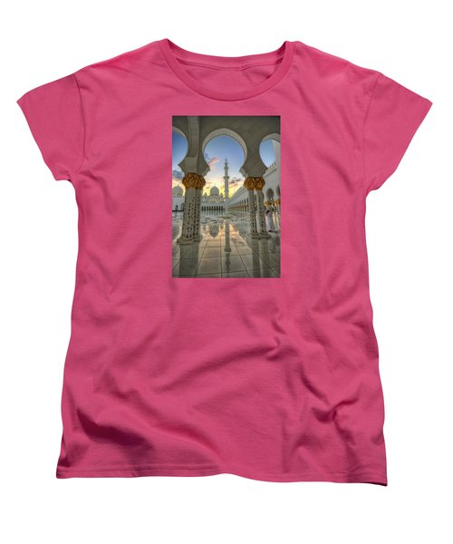 Arch Sunset Temple Women's T-Shirt (Standard Cut) by John Swartz
