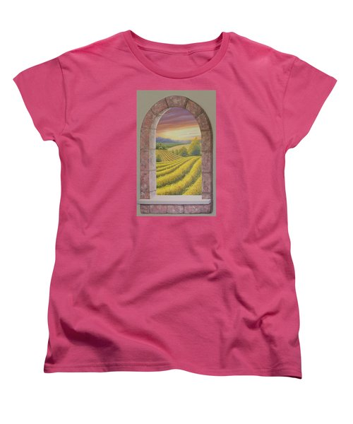 Arco Vinal Women's T-Shirt (Standard Cut) by Angel Ortiz