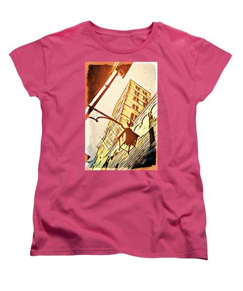 Arezzo's Tower Women's T-Shirt (Standard Cut) by Andrea Barbieri