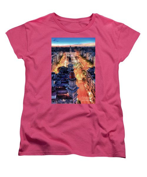 Women's T-Shirt (Standard Cut) featuring the photograph Argentina National Congress by Bernardo Galmarini