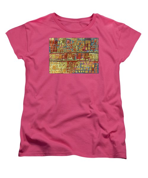 Ariel View Women's T-Shirt (Standard Cut) by Sandra Church