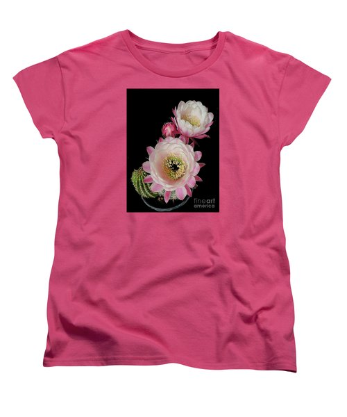 Arizona Desert Cactus Flowers Women's T-Shirt (Standard Cut) by Merton Allen