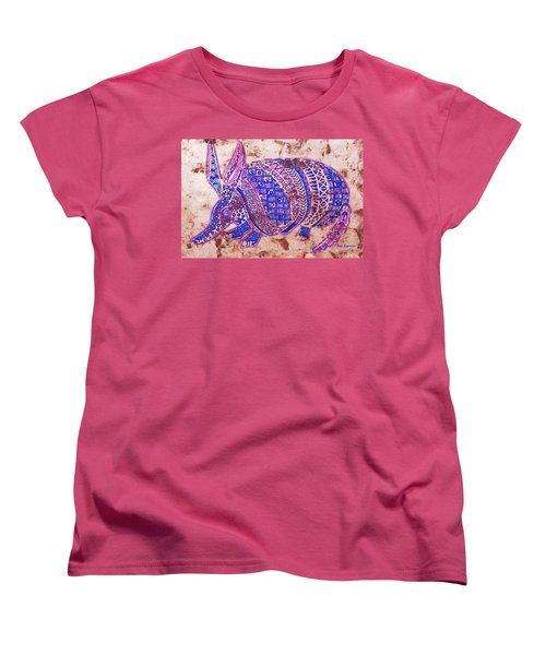Women's T-Shirt (Standard Cut) featuring the painting Armadillo by J- J- Espinoza