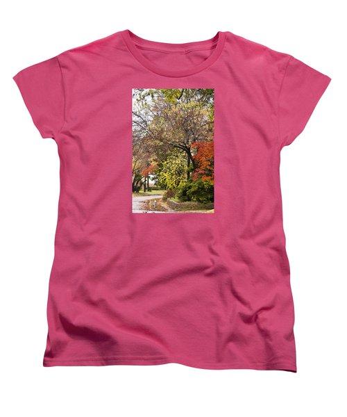 Women's T-Shirt (Standard Cut) featuring the photograph Around The Corner by Joan Bertucci