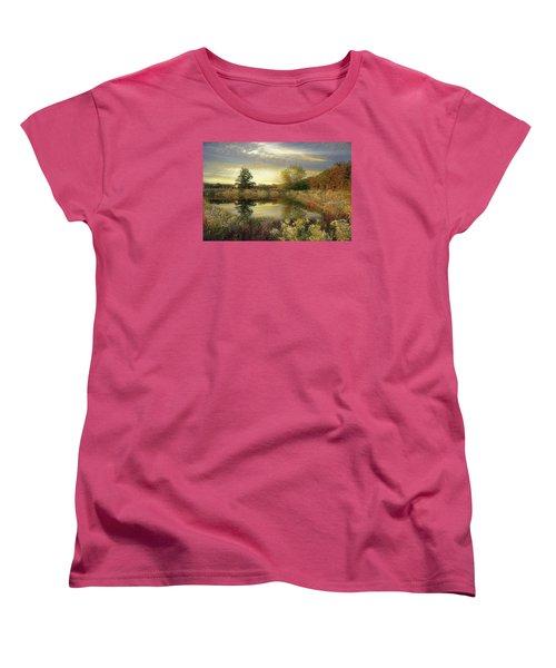 Women's T-Shirt (Standard Cut) featuring the photograph Arrival Of Dawn by John Rivera