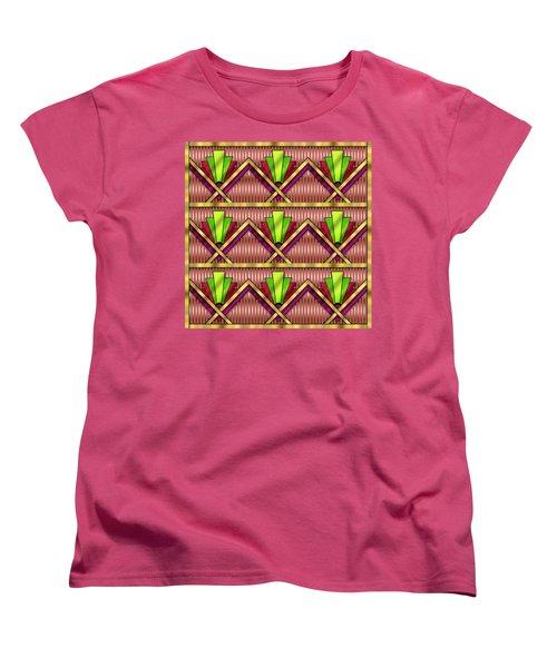 Women's T-Shirt (Standard Cut) featuring the digital art Art Deco Multiview 18  by Chuck Staley