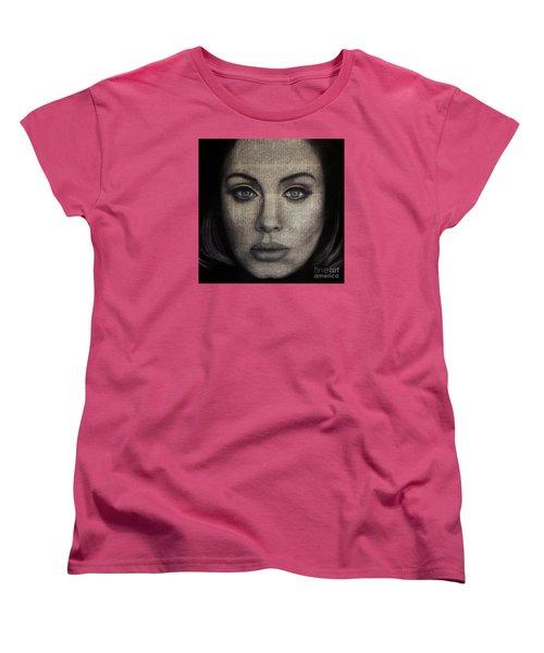Art In The News 72-adele 25 Women's T-Shirt (Standard Cut) by Michael Cross