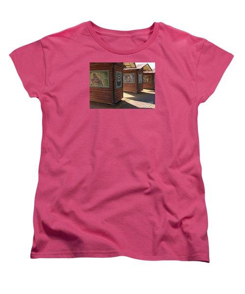 Women's T-Shirt (Standard Cut) featuring the photograph Art Shacks Old Town by Cheryl Del Toro