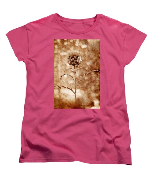 Artichoke Bloom Women's T-Shirt (Standard Cut) by La Rae  Roberts