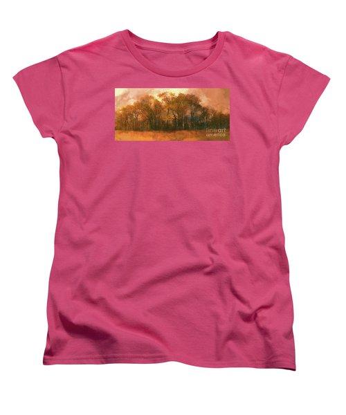 Women's T-Shirt (Standard Cut) featuring the photograph Artistic Fall Colors In The Blue Ridge Fx by Dan Carmichael