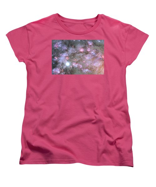 Women's T-Shirt (Standard Cut) featuring the digital art Artist's View Of A Dense Galaxy Core Forming by Nasa