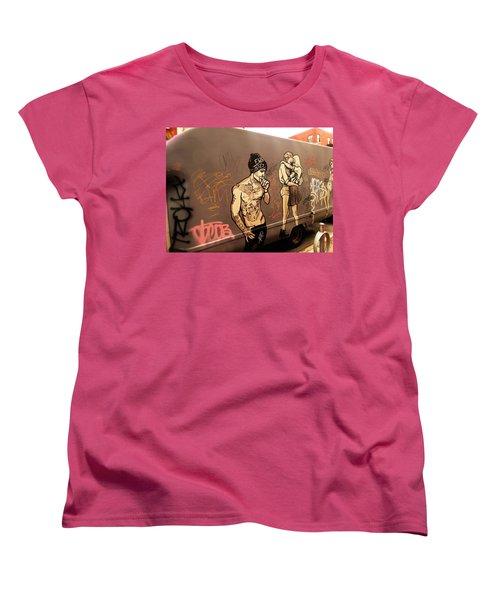 Artsy Love Scenes On New York Truck Women's T-Shirt (Standard Cut) by Funkpix Photo Hunter