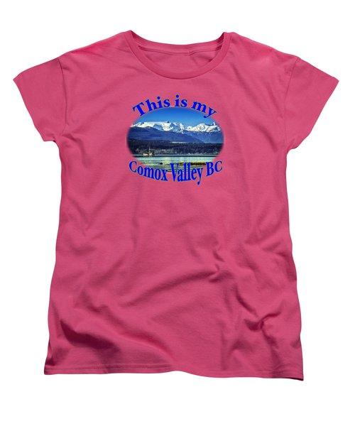 Comox Glacier And Herring Boat Women's T-Shirt (Standard Cut) by Richard Farrington