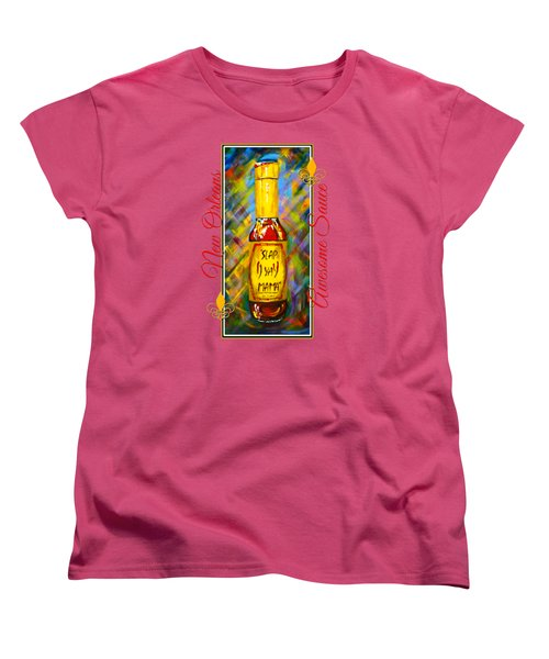 Women's T-Shirt (Standard Cut) featuring the painting Awesome Sauce - Slap Ya Mama by Dianne Parks