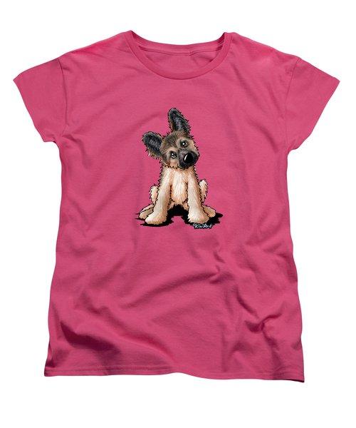Curious Shepherd Puppy Women's T-Shirt (Standard Cut)