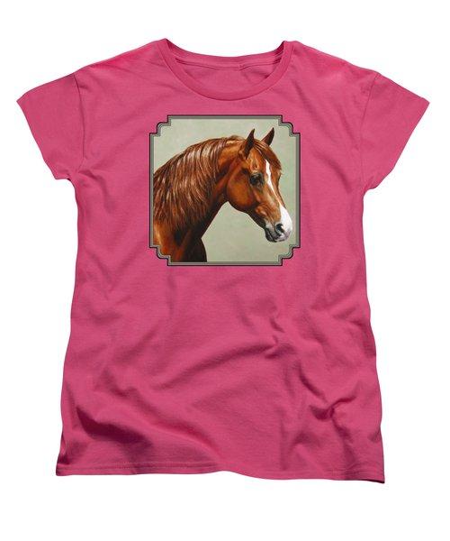 Morgan Horse - Flame Women's T-Shirt (Standard Cut) by Crista Forest