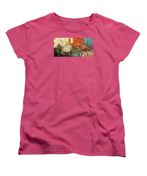 Women's T-Shirt (Standard Cut) featuring the painting Artylicious by Carmen Guedez