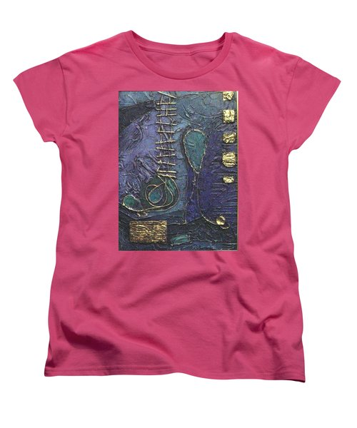 Ascending Blue Women's T-Shirt (Standard Cut) by Bernard Goodman