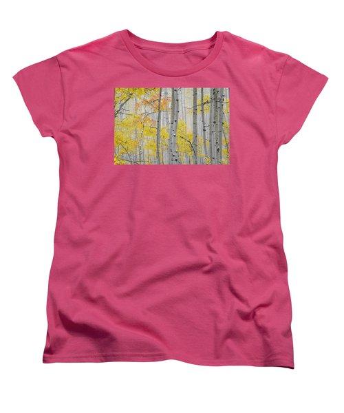 Aspen Forest Texture Women's T-Shirt (Standard Cut) by Leland D Howard