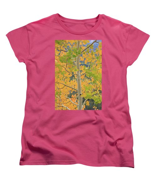Women's T-Shirt (Standard Cut) featuring the photograph Aspen Watching You by David Chandler