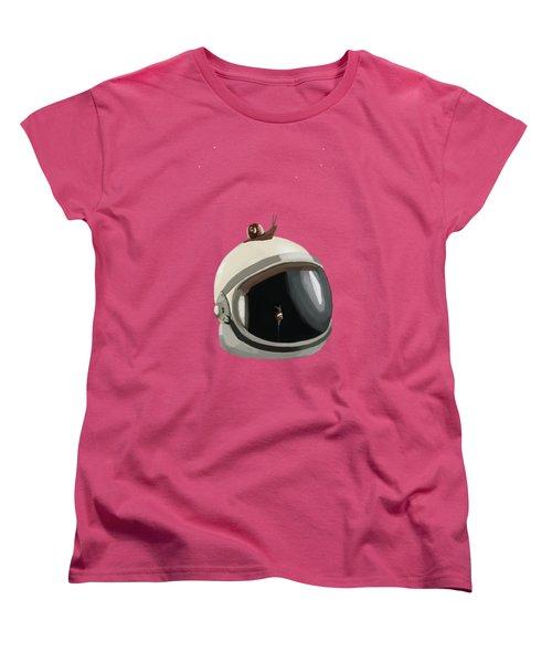 Astronaut's Helmet Women's T-Shirt (Standard Cut) by Keshava Shukla