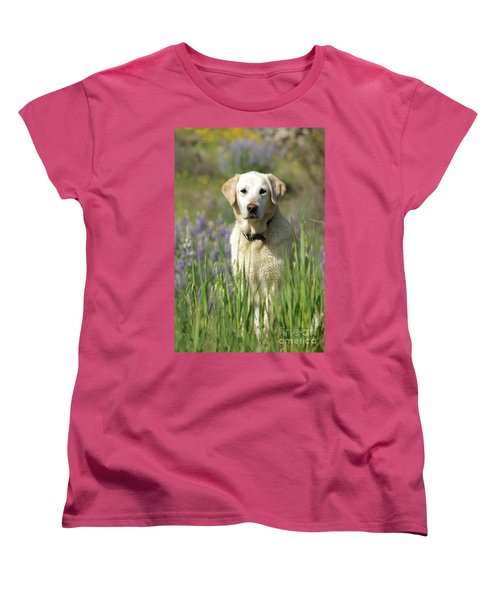 Women's T-Shirt (Standard Cut) featuring the photograph At Attention by Jim and Emily Bush