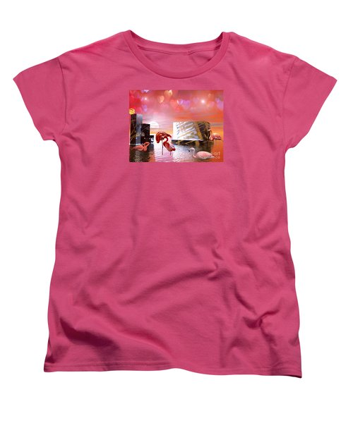 At Peace Women's T-Shirt (Standard Cut) by Jacqueline Lloyd