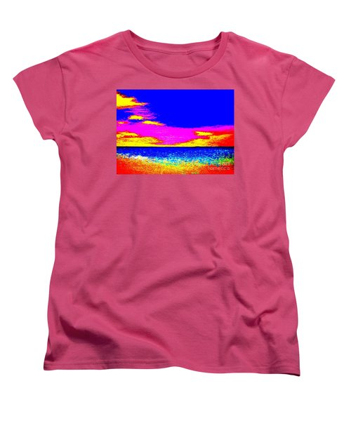 At The Beach Women's T-Shirt (Standard Cut) by Tim Townsend