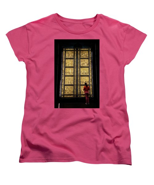 Women's T-Shirt (Standard Cut) featuring the photograph At The Gates Of Paradise by Joan Carroll