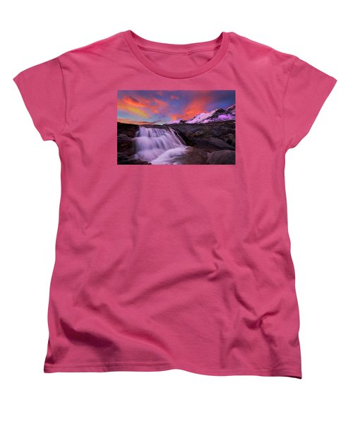 Athabasca On Fire Women's T-Shirt (Standard Cut) by Dan Jurak