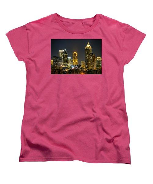 Atlanta Skyscrapers  Women's T-Shirt (Standard Cut) by Anna Rumiantseva