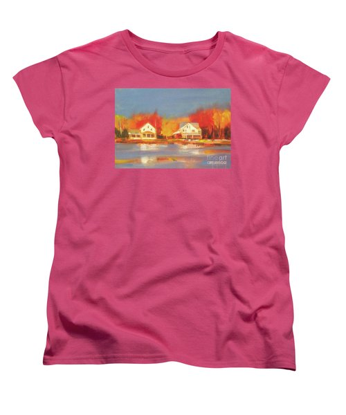 Atsion Lake Women's T-Shirt (Standard Cut) by Mary Hubley