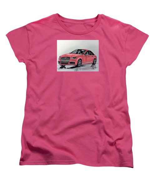 Women's T-Shirt (Standard Cut) featuring the mixed media Audi S4 by Kevin F Heuman