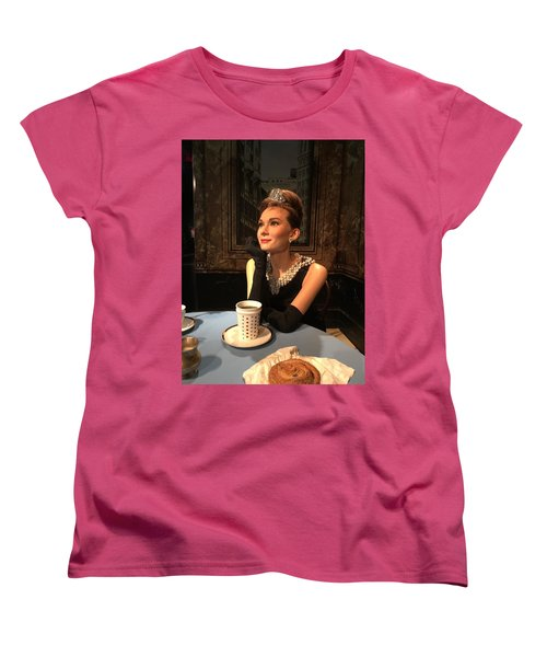 Audrey Hepburn Women's T-Shirt (Standard Cut) by Kay Gilley