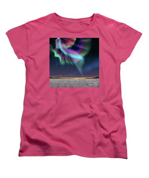Aurora At Dawn Women's T-Shirt (Standard Cut) by Atiketta Sangasaeng