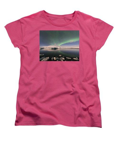 Aurora Borealis And Reflection Women's T-Shirt (Standard Cut)