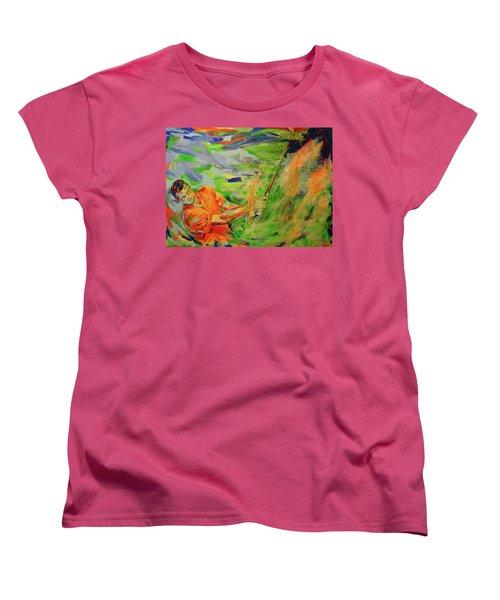 Aus Dem Bunker Spielen   Bunker Shot Women's T-Shirt (Standard Cut) by Koro Arandia