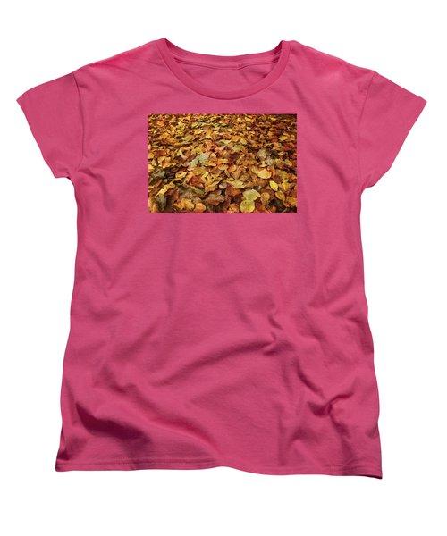 Autumn Carpet Women's T-Shirt (Standard Cut) by Vittorio Chiampan